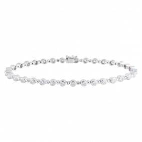White Gold Diamond Line Bracelet